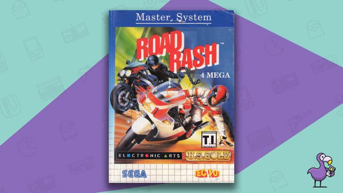Best Master System Games - Road Rash game case