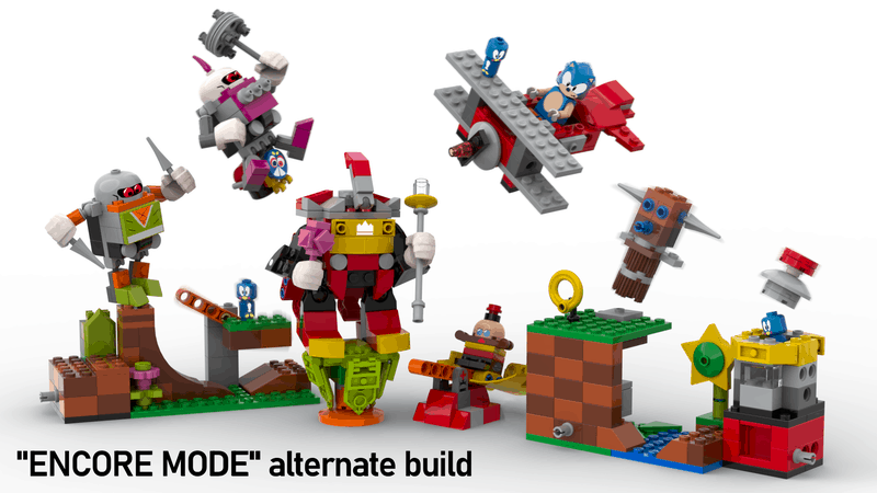 Sonic the Hedgehog Lego set - the full gang including alternative modes