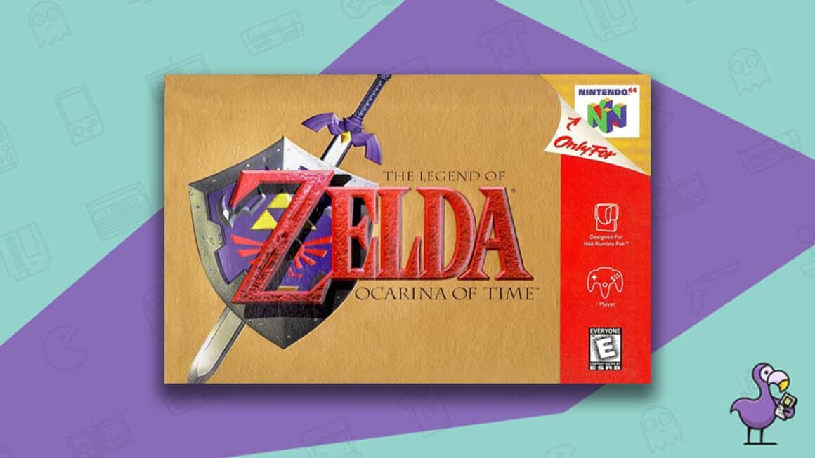 Best Retro Games - The Legend of Zelda: Ocarina of Time N64 game case cover art