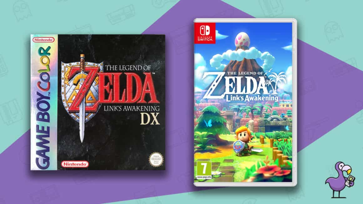 Best Zelda Games - Link's Awakening game case for Game Boy Color and Nintendo Switch