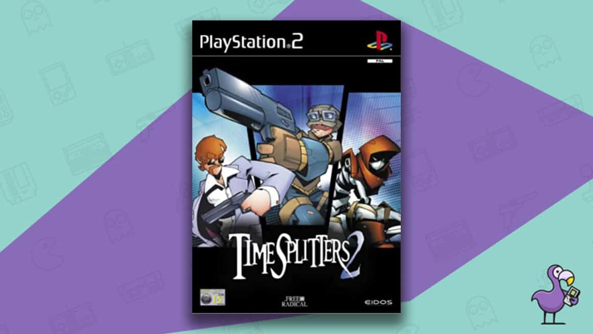 Best PS2 Games - Time splitters 2 game case cover art