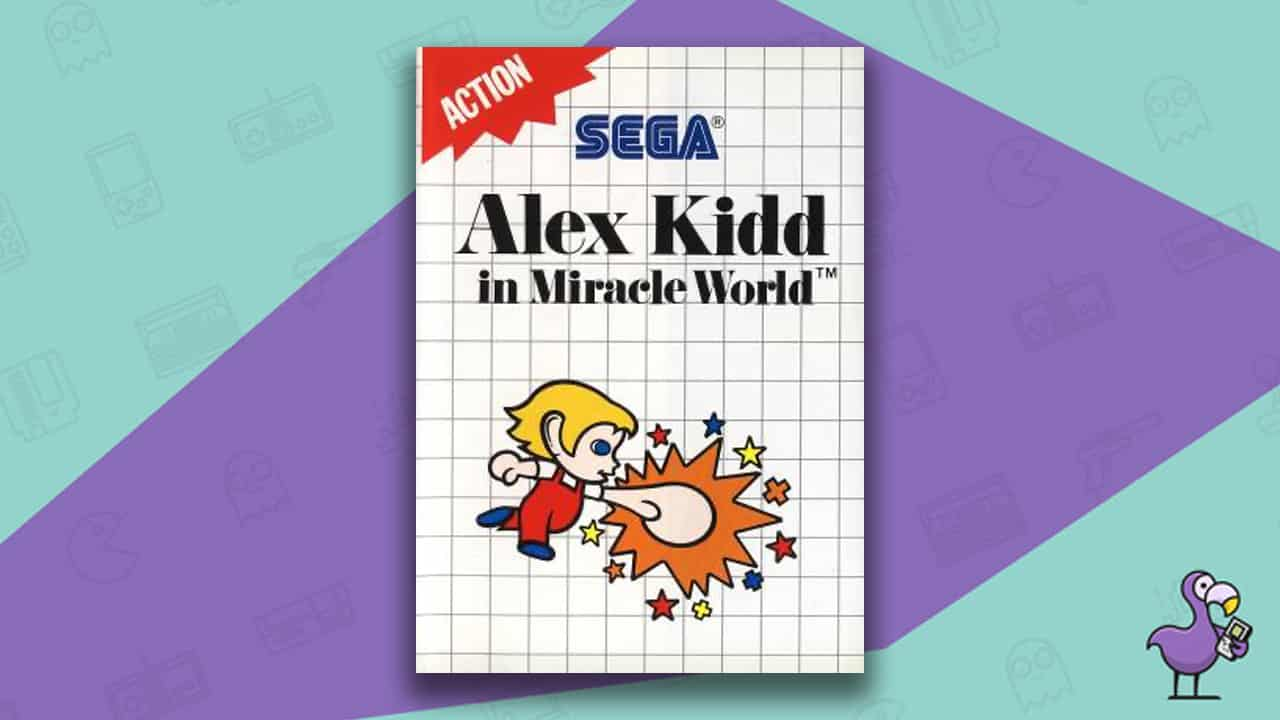 Best Master System Games - Alex Kidd in Miracle World game case