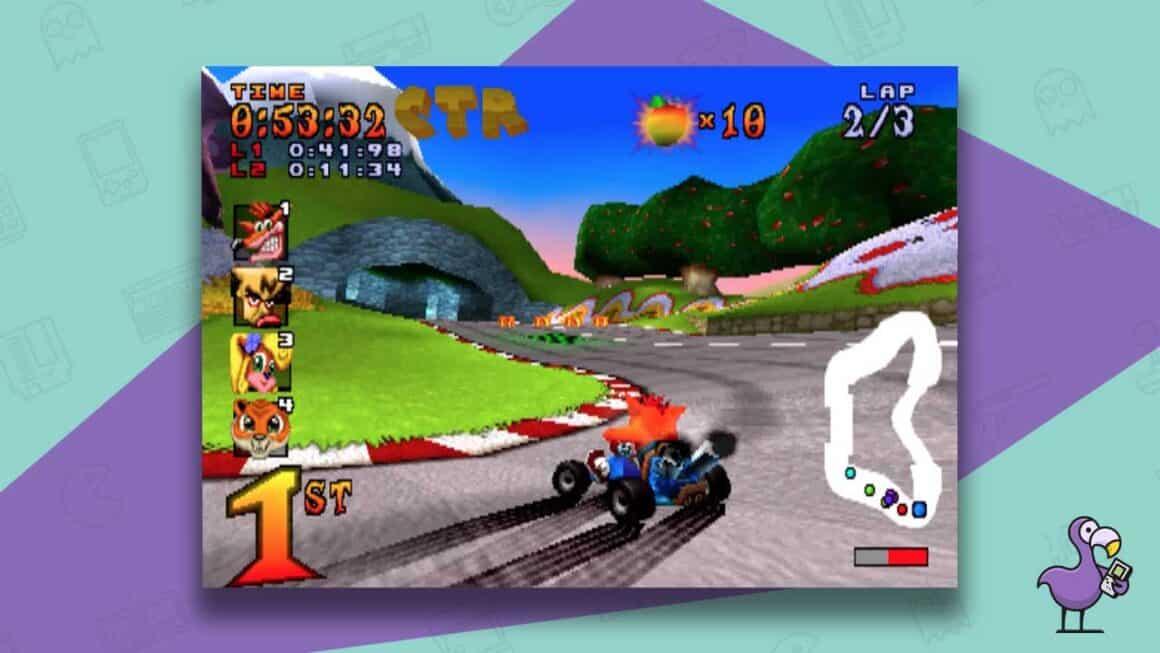 crash team racing 1999 gameplay
