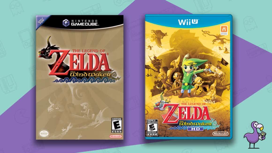 Best Zelda Games - The Legend of Zelda The Wind Waker Nintendo GameCube and Wii-U game cases
