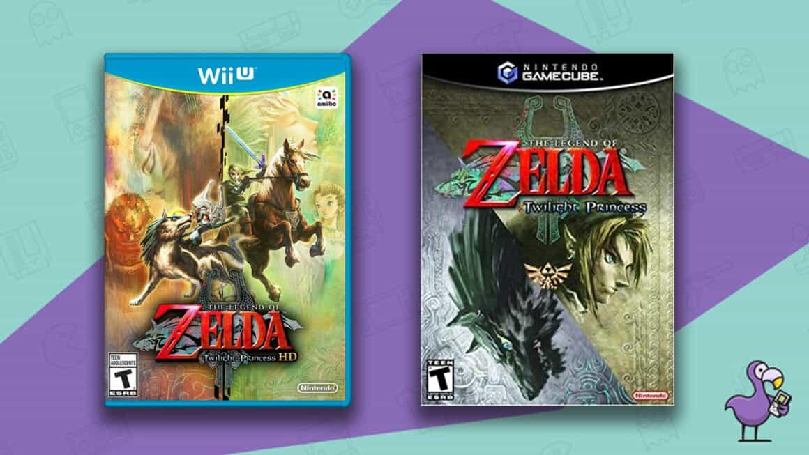 Best Zelda Games - The Legend of Zelda Twilight Princes game cases for Nintendo Wii-U and GameCube