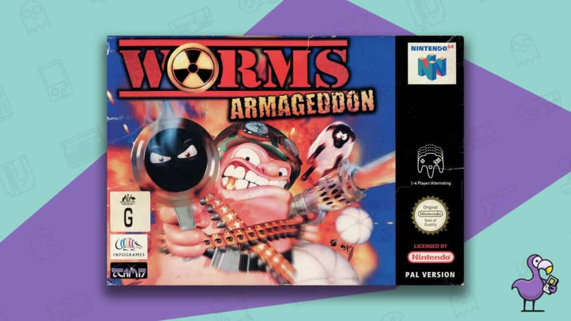 Rare N64 games - Worms: Armageddon game case