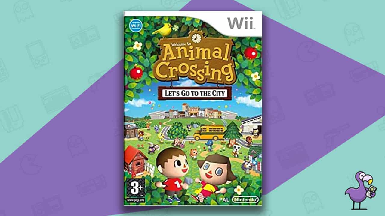 Best Nintendo Wii Games - Animal Crossing: Let's Go To The City game case
