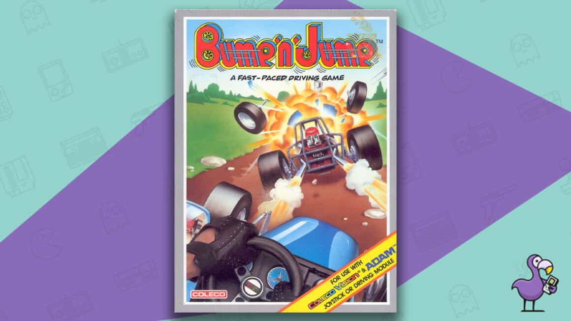 Best Colecovision Games - Bump n Jump game case cover art