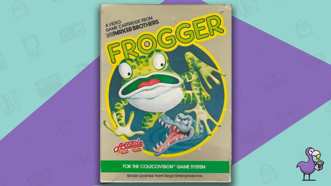 Best Colecovision Games - Frogger game case cover art