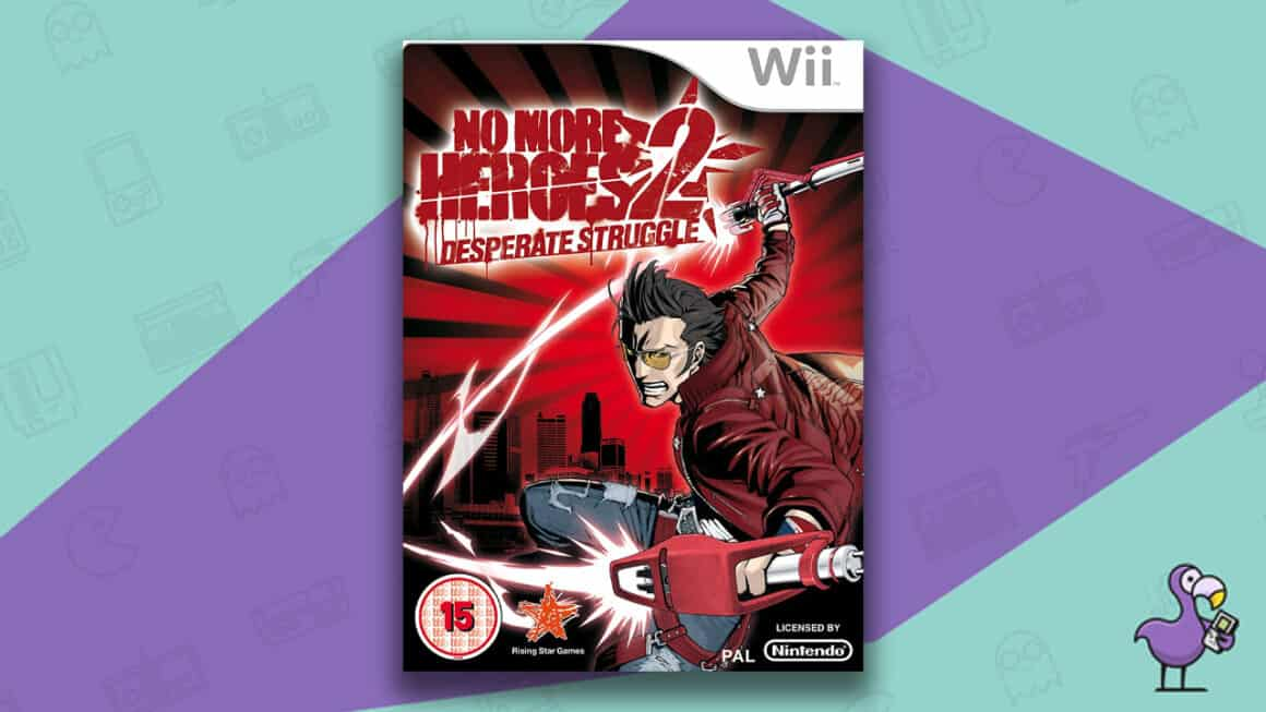 Best Nintendo Wii Games - No More Heroes 2: Desperate Struggle game case