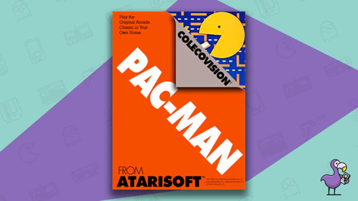 Best Colecovision Games - Pacman Game Case Cover Art
