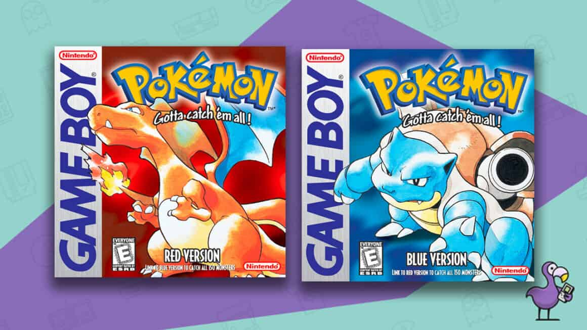 Best Gameboy Games - Pokemon Red & Blue game boxes