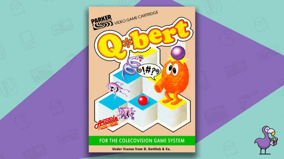 Best Colecovision Games - Q*Bert game case cover art