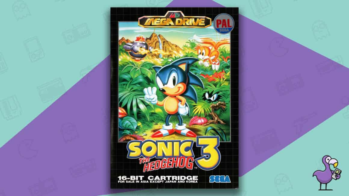 Best Sonic Games - Sonic the Hedgehog 3 game case