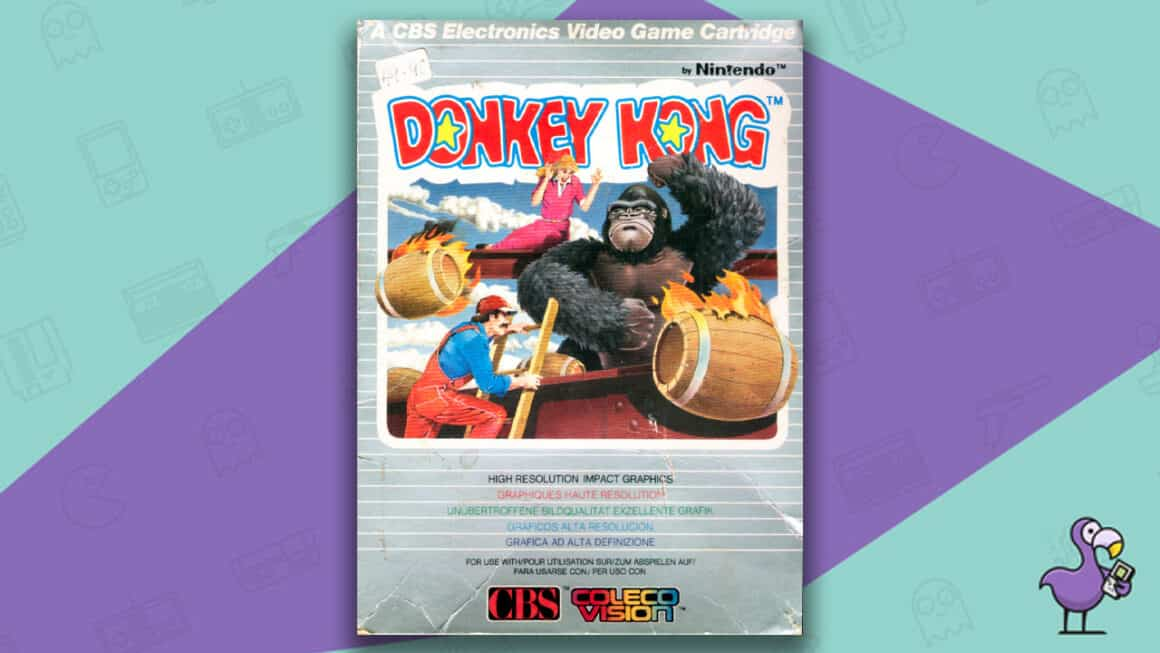 Best Colecovision Games - Donkey Kong Game Case Cover Art