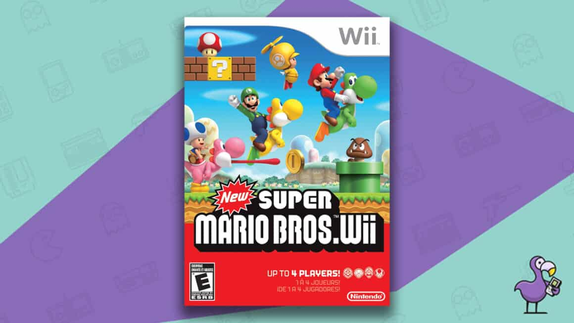 Best Nintendo Wii Games - New Super Mario Bros Wii game case
