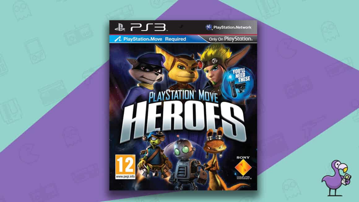 Best Jak and Daxter games - PlayStation Move Heroes PS3 game case cover art