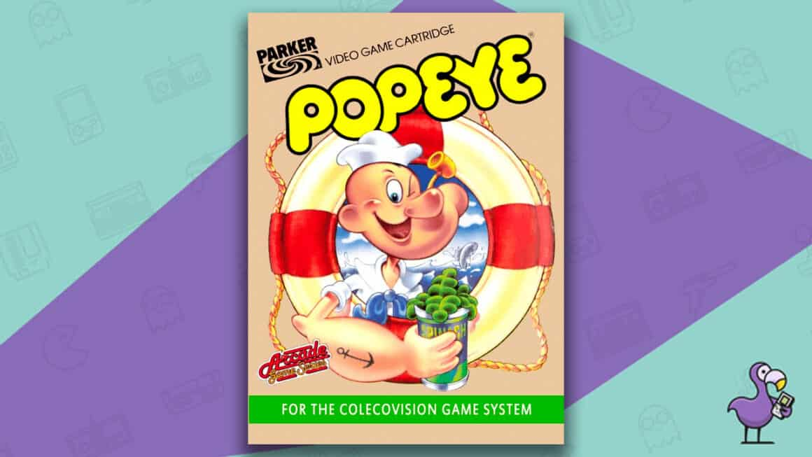 Best Colecovision Games - Popeye Game Case Cover Art