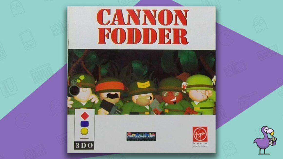 Best 3DO Games - Cannon Fodder game case