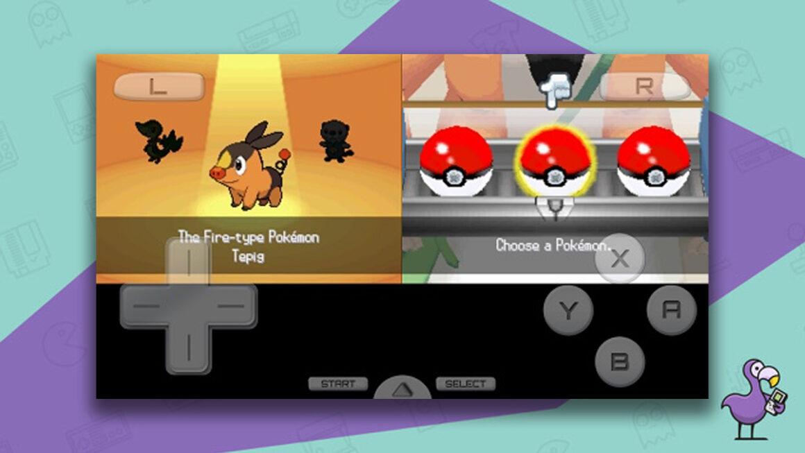 DraStic Nintendo DS Emulator game screen showing Pokemon gameplay
