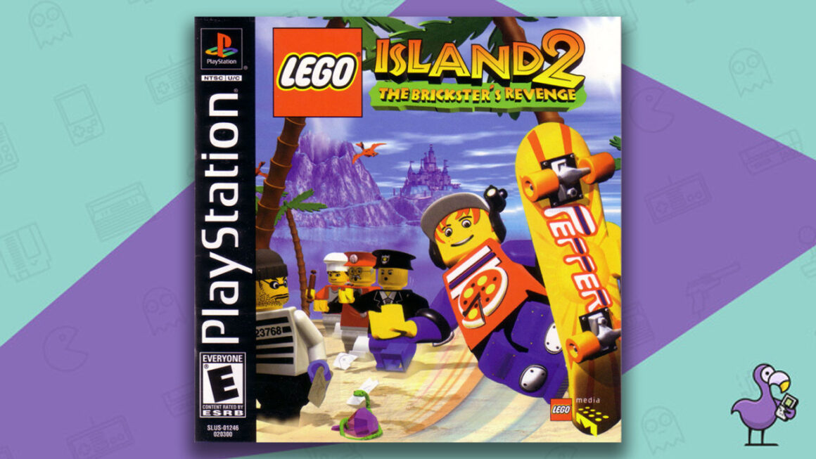 Best Lego Games - Lego Island 2: The Brickster's Revenge game case PS1