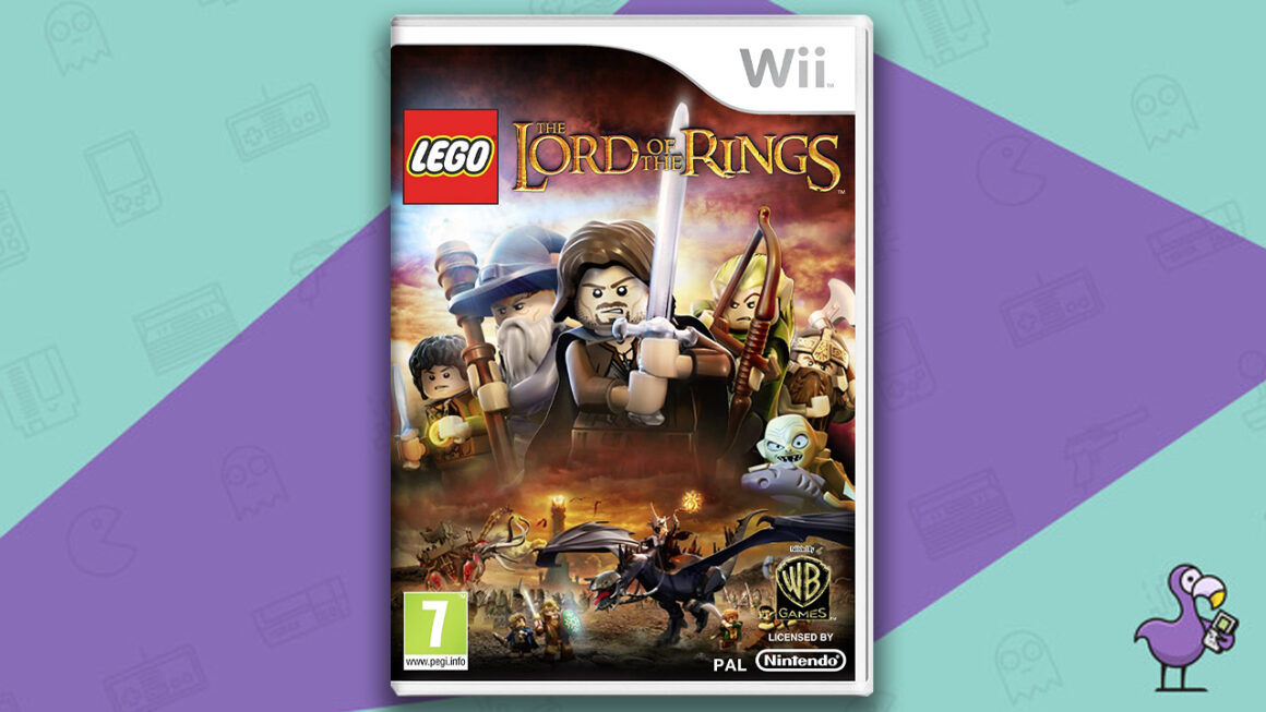 Best Lego Games - Lego Lord of the Rings game case Nintendo Wii