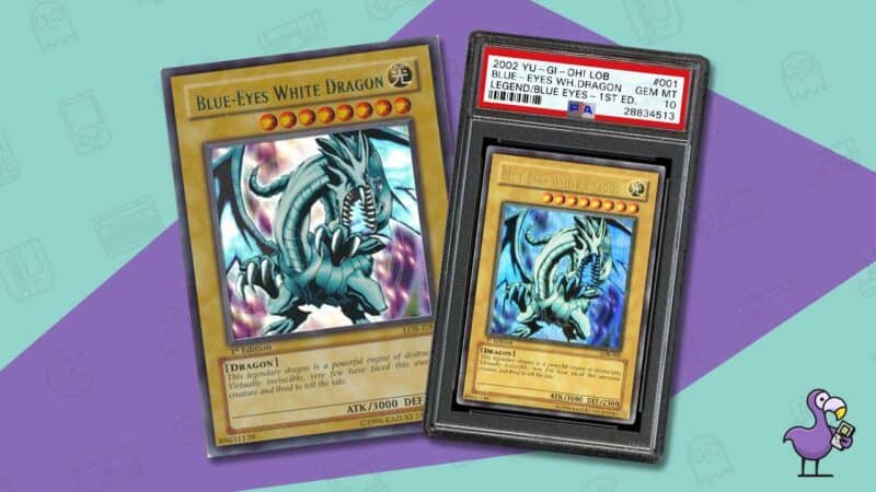 blue eyes white dragon yu-gi-oh card 2002 psa 10