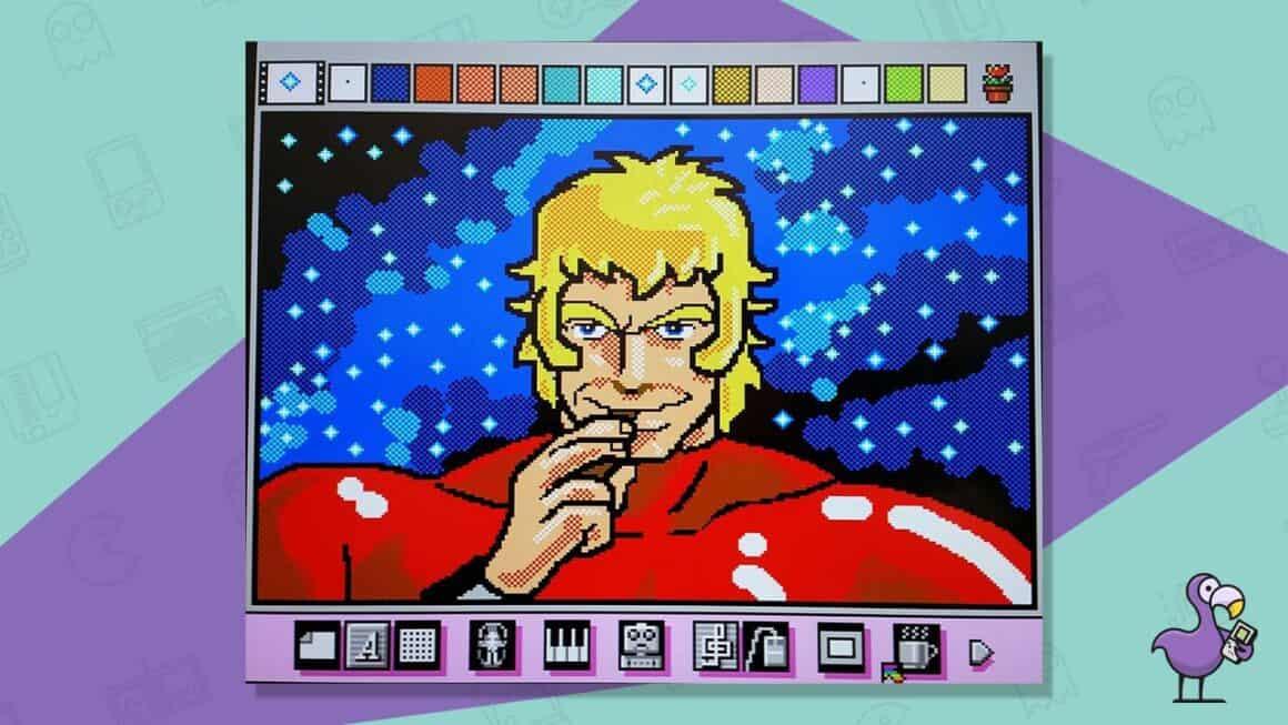 mario paint snes gameplay