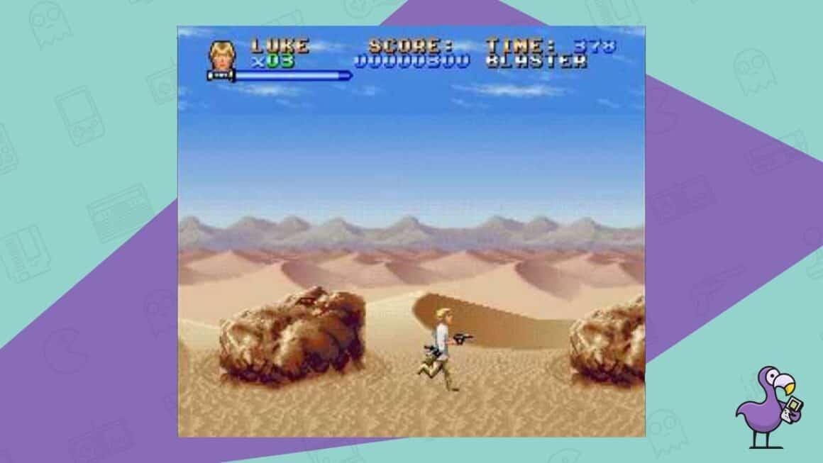 super star wars snes gameplay