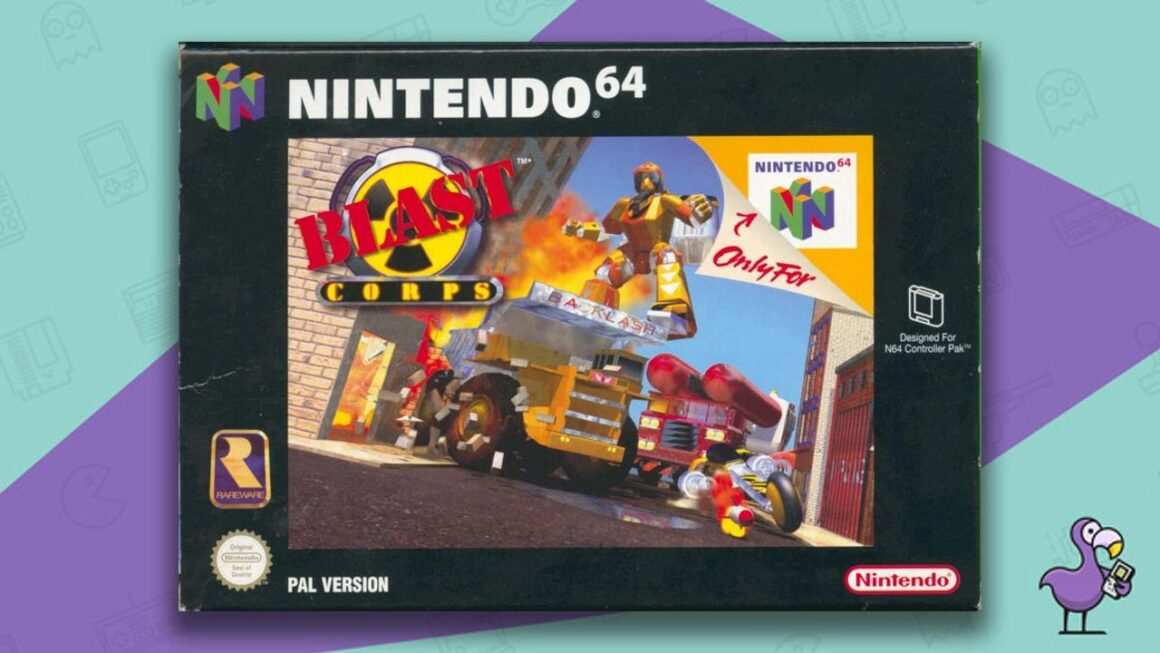 Best N64 Games of all time - Blast Corps game case cover art
