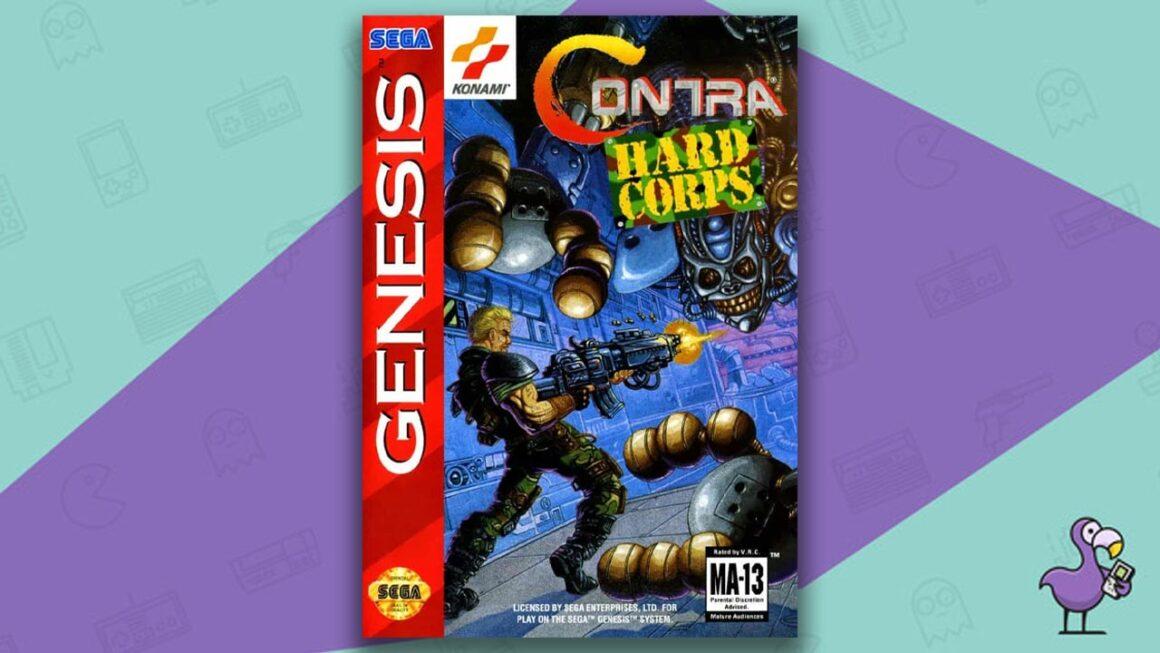 Best Sega Genesis Games - Contra: Hard Corps game case cover art