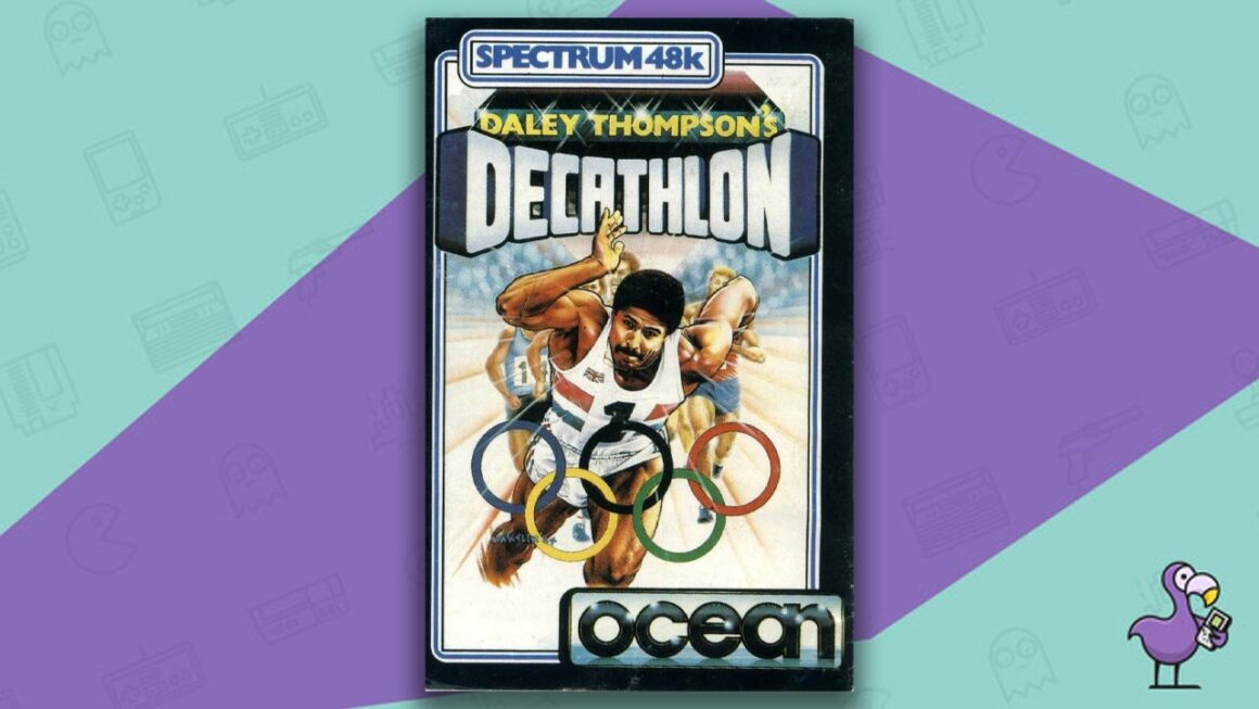 Best ZX Spectrum Games - Daley Thompson's Decathlon game case cover art