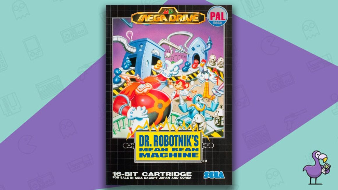 Best Sega Mega Drive games - Dr Robotnik's Mean Bean Machine game case cover art