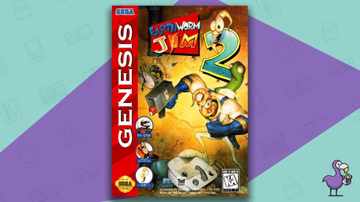 Best Sega Genesis Games - Earthworm Jim 2 game case cover art