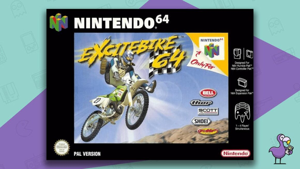 Best N64 Games of all time - Excitebike 64 game case cover art