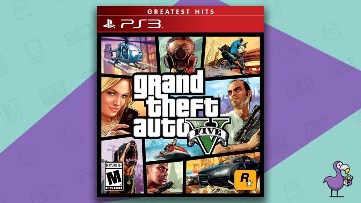 Best PS3 Games - Grand Theft Auto V game case cover art