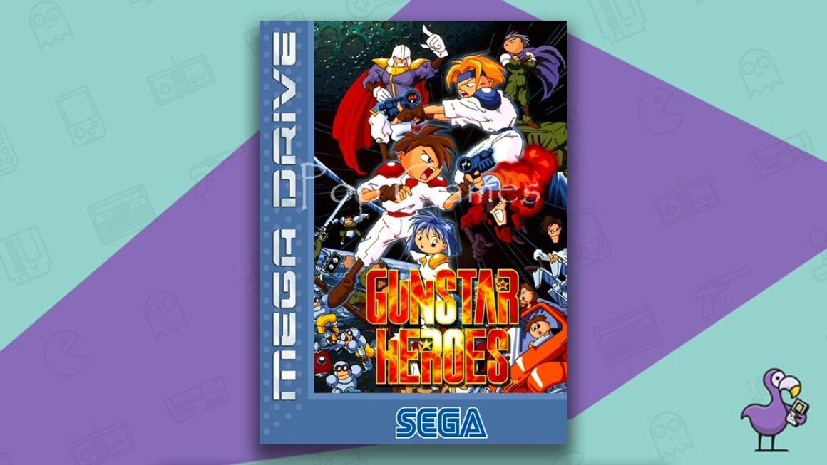 Best Sega Mega Drive games - Gunstar Heroes game case cover art