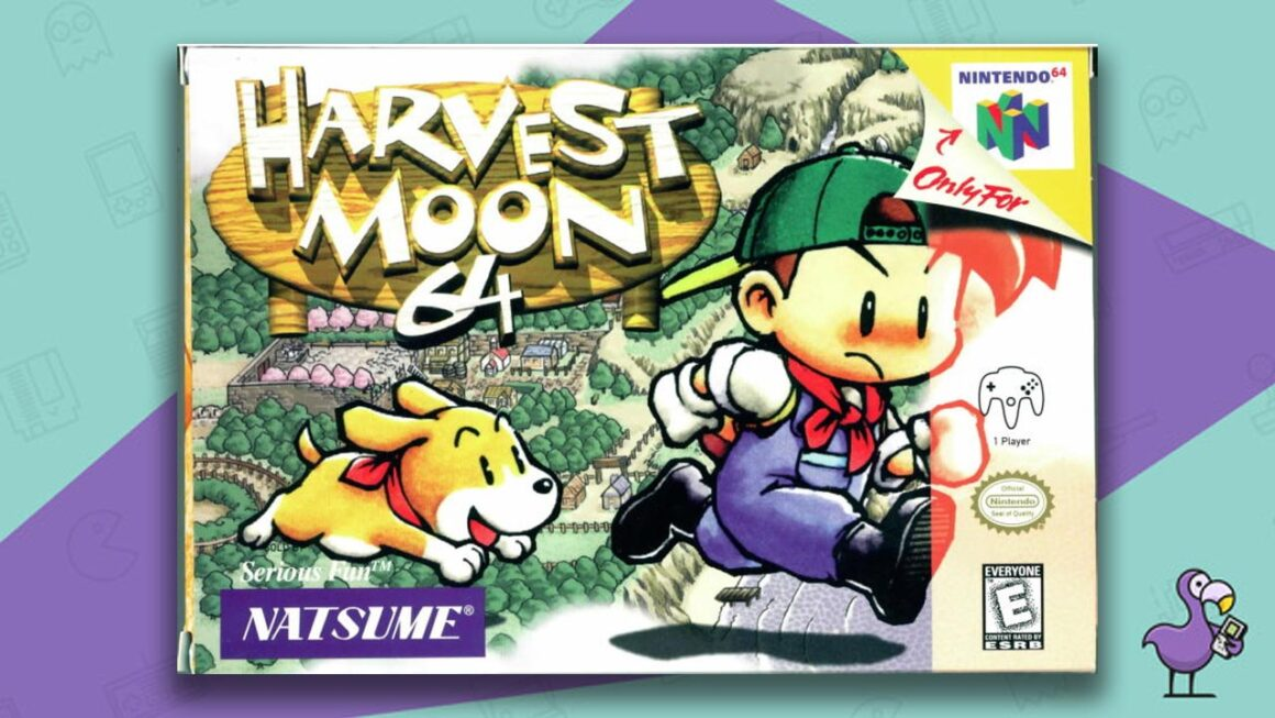 Best N64 Games of all time - Harvest Moon 64 Game Case Cover Art