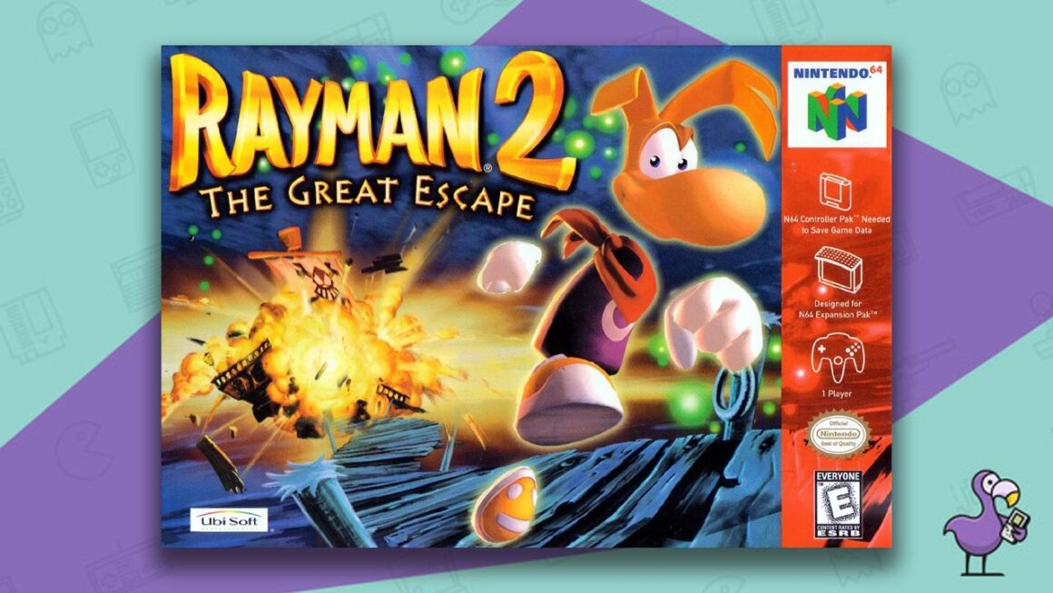Best N64 Games of all time - Rayman 2: The Great Escape game case cover art