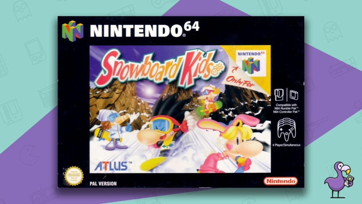 Best N64 Games of all time - Snowboard Kids game case cover art pal version