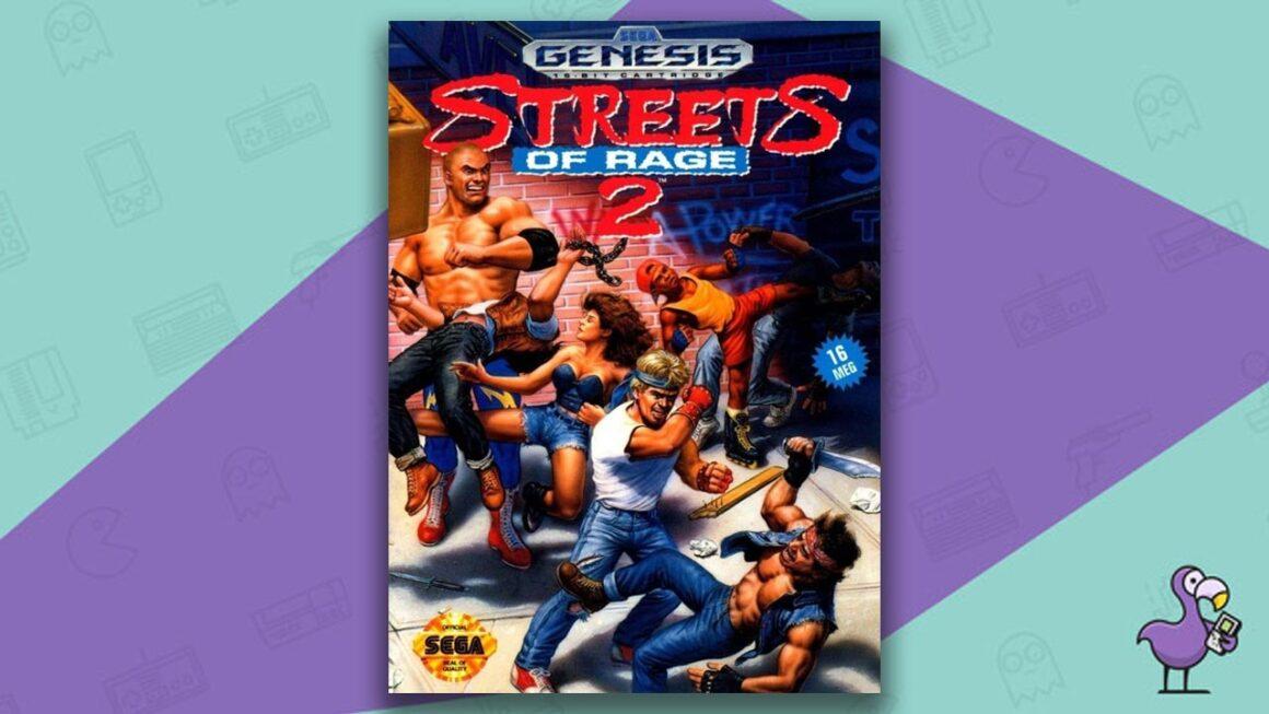 Best Sega Genesis Games - Streets of Rage 2 Game Case Cover Art