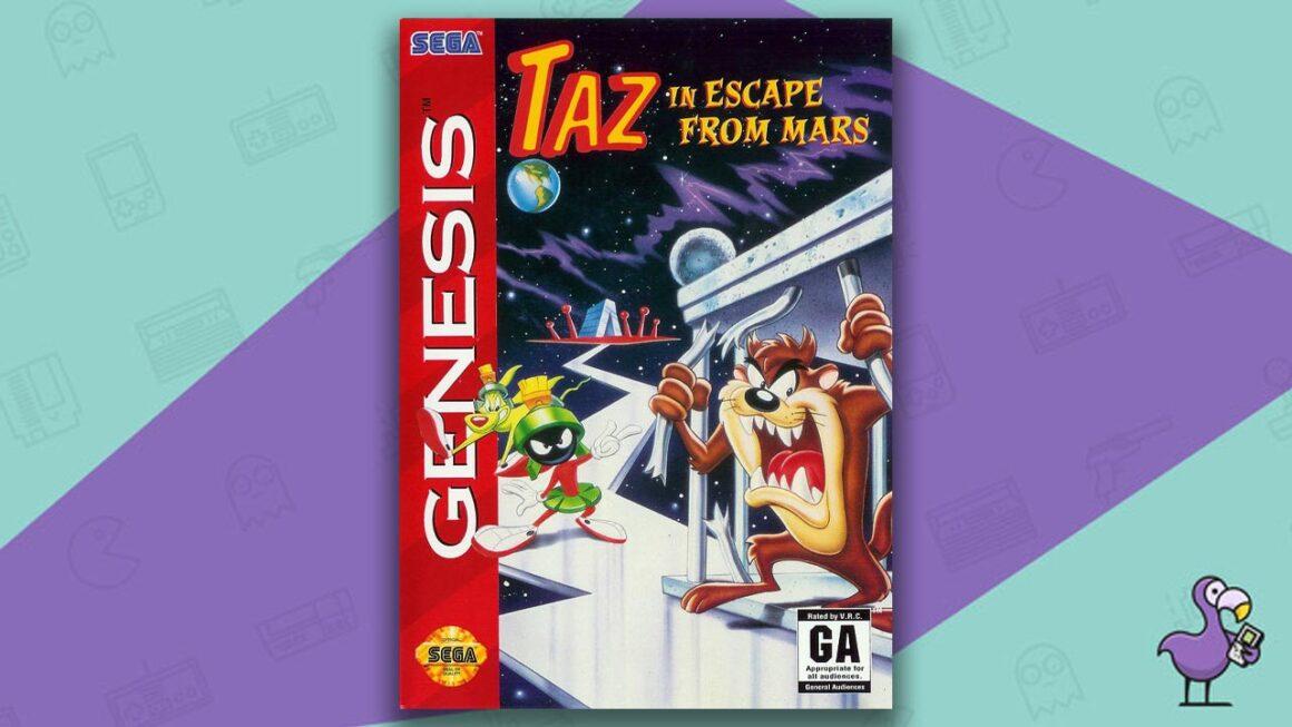 Best Sega Genesis Games - Taz in Escape from Mars game case cover art