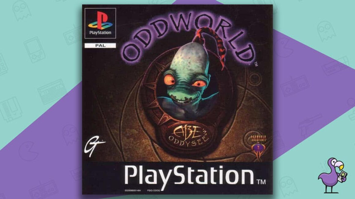 Best PS1 Games - Oddworld: Abe's Oddysee game case cover art