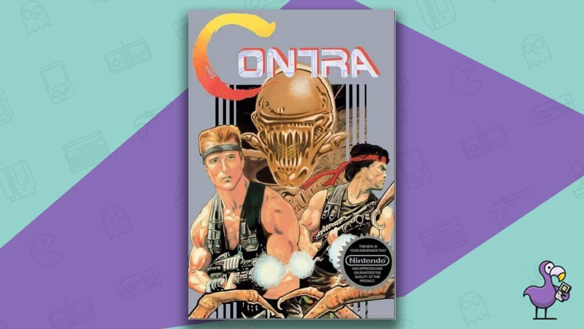 Best NES Games - Contra game case