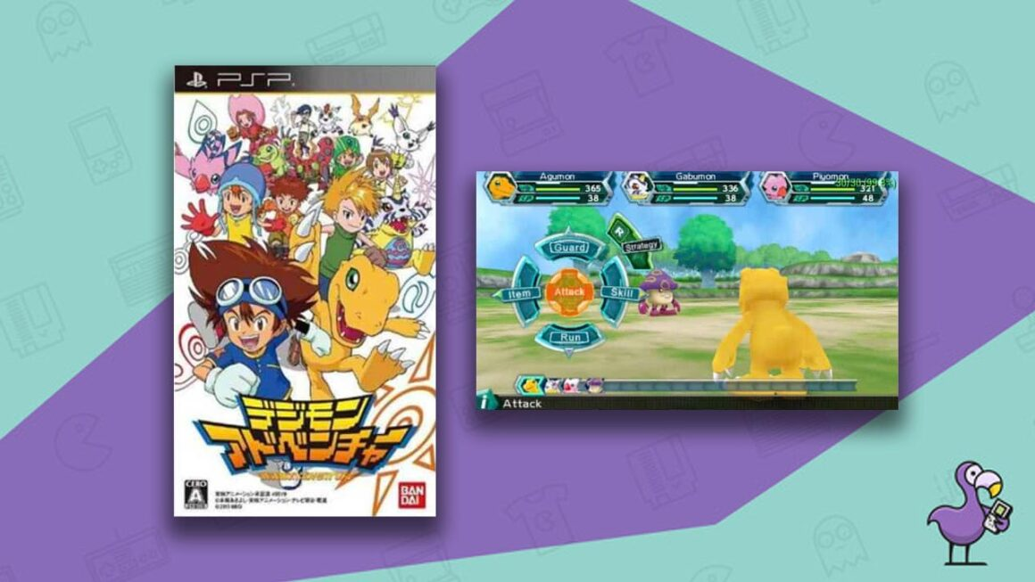 Best Digimon Games - Digimon Adventure PSP game case gameplay
