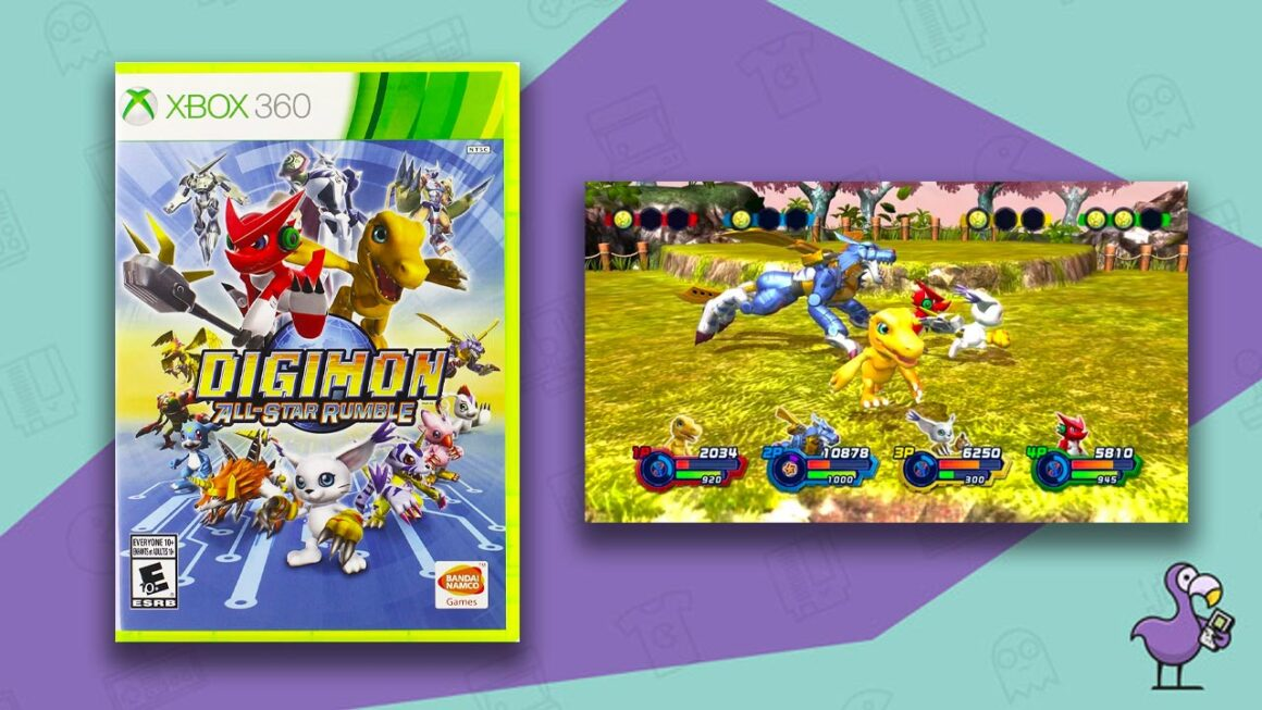 Digimon All Star Rumble game case gameplay Xbox 360 best Digimon games