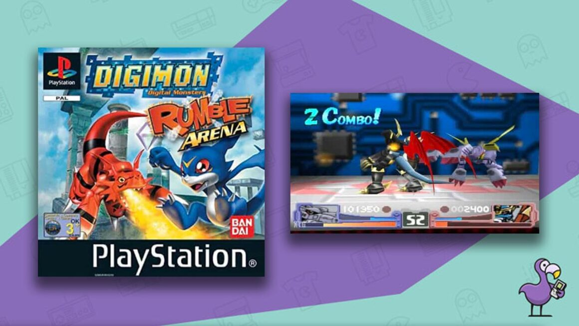 Best Digimon Games - Digimon Rumble Arena game case gameplay