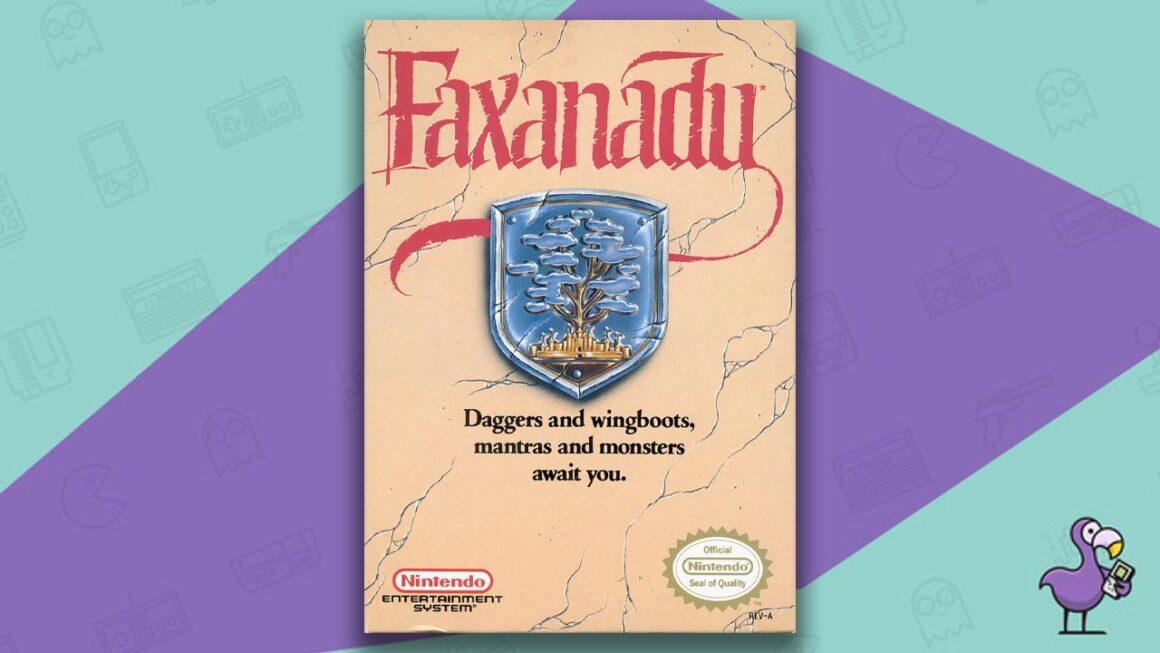 Best NES RPG Games - Faxanadu game case cover art