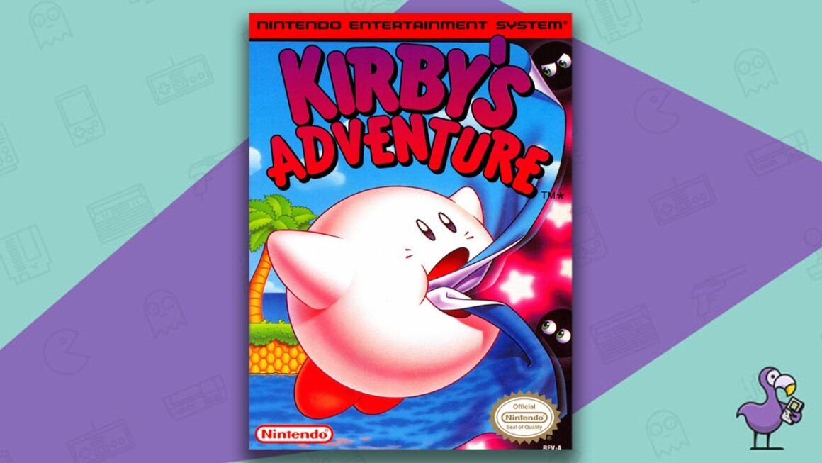 Best NES Games - Kirby's Adventure game case