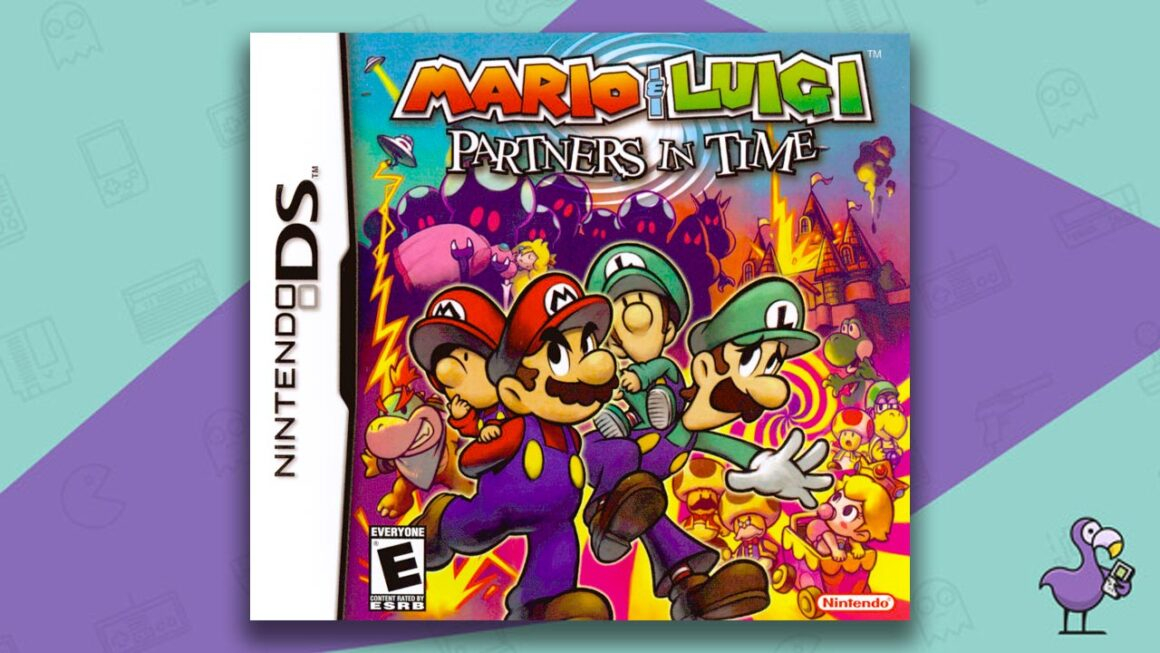 Best DS RPGs - Mario & Luigi: Partners in time game case cover art
